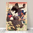 "Vintage Japanese SAMURAI Warrior Art CANVAS PRINT 8x12""~ Kuniyoshi #268"