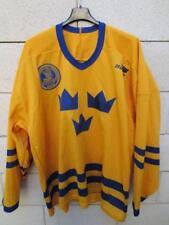 Maillot Hockey SUEDE shirt SVENSKA ISHOCKEY träningströja Sverige Bauer XL