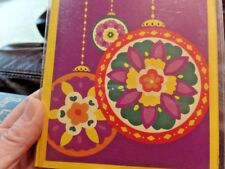 """Vera Bradley Christmas Cards Holiday 8 Pack Colorful Ornaments 7"""" x 5""""  NEW"""