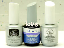 IBD Just Gel Polish LED/UV 15ml/0.5fl.oz Bonder & Base Coat & Top Coat of Set