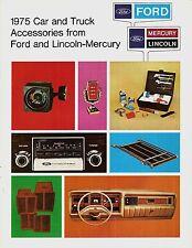 1975 Ford Lincoln Mercury Car & Truck Accessories USA BROCHURE DI VENDITA