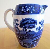 Flow Blue Water Pitcher Copeland Spode's Tower Milk Creamer. England #24 Vintage