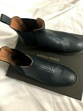 Bottega Veneta Leather Chelsea Boots/Shoes Men's Navy Blue EU 41 US 8
