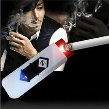 USB Electric Battery Rechargeable Flameless Collectible Lighter Cigar Cigarette~