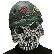 Evil Army Soldier Zombie Halloween Skull Mask Military Scary Monster
