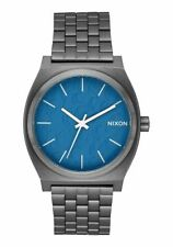 New Nixon Watch The Time Teller Navy/Gunmetal Unisex A045-2854