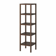 Ikea MOLGER Shelving Storage Wooden Unit Rack,Open Shelves,37x140 cm,Dark Brown