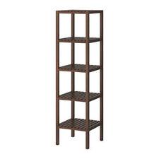 IKEA MOLGER Scaffalature di stoccaggio in legno unità rack, scaffali aperti, 37x140 cm, marrone scuro