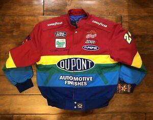 Vintage Jeff Gordon #24 Dupont Rainbow Racing Jacket Mens X Large NASCAR JH Rare