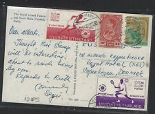 THAILAND (P0412BB)  1960  PPC  4 STAMPS INCL 2 ASIAN GAMES TO DENMARK