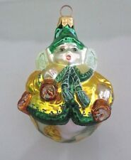Slavic Treasures Poland Figural Glass Xmas Ornament,Roly Poly Garden Fairy Pixie