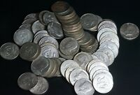 Lot of 70 Mixed Dates Kennedy 40% Silver Half Dollars 50C Coins - $35 Face