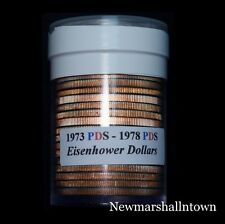 1973 1974 1976 (T1 T2) 1977 1978 P+D+S Eisenhower Dollar Mint Proof Set in Roll