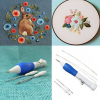 1 Set Magic Embroidery Pen Embroidery Needle Weaving Tool Fancy Kits US