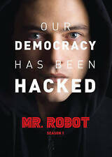 Mr. Robot: First Season One 1 (DVD, 2016, 3-Disc Set) Conspiracy Hackers Hacking