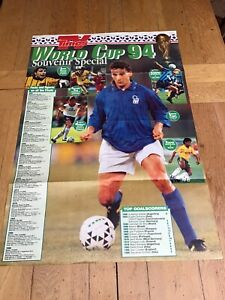 TV Times World Cup 94 Souvenir Special Wall Chart (Double Sided)