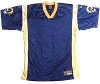 St. Louis Los Angeles Rams Los Angeles Rams Throwback Football Jersey Blank Navy