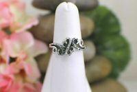 Valentine Gift 925 Sterling Silver Diamond Jane Seymour Open Hearts Diamond Ring