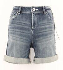 INC NEW $69 Regular Fit Sz 8 x 5 Denim Cotton Blend Cuffed Shorts 178Q