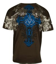 Archaic AFFLICTION Mens T-Shirt QUORUM Cross Tattoo Biker Club MMA UFC 2XL $40