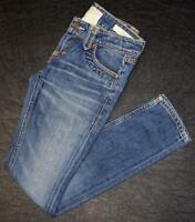 Taverniti Skinny Straight Distressed Junior Women's Size 00 24 Denim Blue Jeans