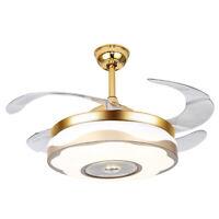 42'' Modern Ceiling Fan Light w/Bluetooth/Remote Dual-Control LED Chandelier Fan