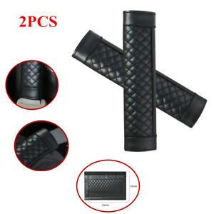 2pcs Leather Style Car Safety Seat Belt Shoulder Pad Cover Auto Cushion Harness