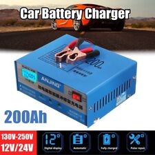 Car Battery Charger Automatic Intelligent Pulse Repair 130/250V 12/24V 200AH EU