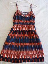 Piper 8 Navy Orange Summer Dress