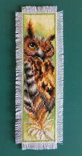 Handmade finished Cross Stitch bookmark Owl
