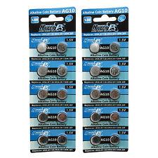 20PCS AG10 LR54 189 387 389 390 LR1130 1.5V Alkaline Button Cell Battery HyperPS