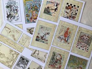 Junk Journal Ephemera Pack 20 Vintage Alice In Wonderland Illustrations