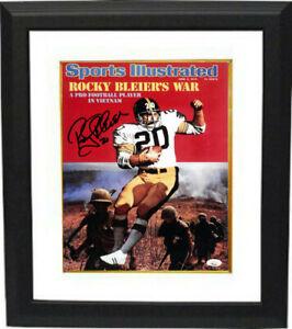 Rocky Bleier signed Sports Illustrated Cover 11x14 Photo 6/9/75 #20 Framed- JSA