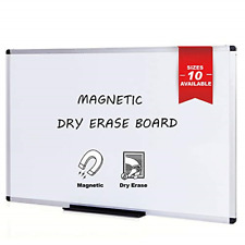Magnetic Whiteboard/Dry Erase Board 48 X 36 Inches Silver Aluminium Frame NEW