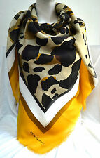 Burberry lujo verano XXL pañuelo bufanda scarf Carré платок 135 x135 PVP 395 € amarillo