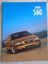 Volvo S60 brochure Aug 2000