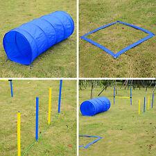 Pawhut Pet Agility Set cani Training Outdoor Tunnel gioco salto regolabile Pole