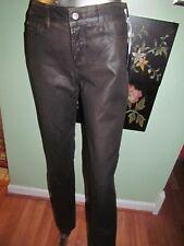 NYDJ Sheri Skinny Jeans Terra Hide Brown Leather Wash SZ 2 MSRP