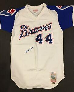 Hank Aaron Autographed Jersey