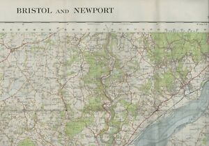 Large OS Map Large 1967 Bristol Newport Portishead     E2.663