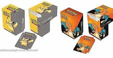 Pikachu + Charizard Deck Box set Storage Holder + Dividers Ultra Pro Pokemon