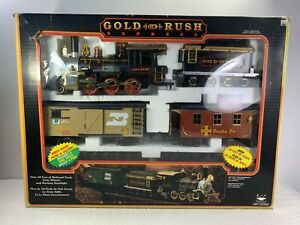New Bright Gold Rush Express G-Scale Train Set No.186, Large 1995 In Box