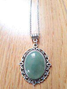 Green Aventurine  Necklace Pendant Stone Gemstone Gift Reiki Chakras Gothic