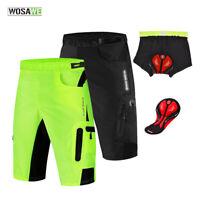 Mens Cycling Shorts Gel Padded Casual MTB Mountain Bike Short Pants Breathable