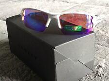 Oakley FLAK 2.0 Sunglass Polished White Frame Prizm Golf Lens 9295-06 NEW
