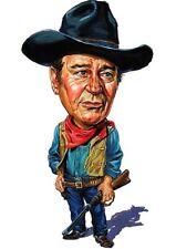 "John Wayne ""The Duke"" Rio Bravo Caricature Sticker or Magnet"