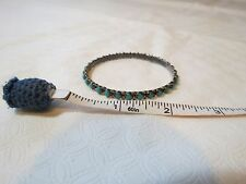 Bangle Bracelet Ladies petite Girls Vintage Sterling Silver 925 Turquoise Mexico