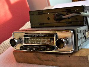 """Becker Radio Europa TR 6/12 Volt mit Chromblende für Oldtimer 60"""", spielt gut"""