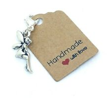 TIBETAN SILVER  TINKERBELL FAIRY  CLIP ON CHARM FOR BRACELETS, ZIPPERS, BAGS