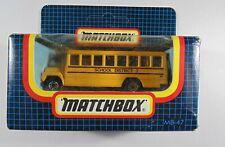 Matchbox Diecast Yellow MB-47 School Bus Autobus Scolaire